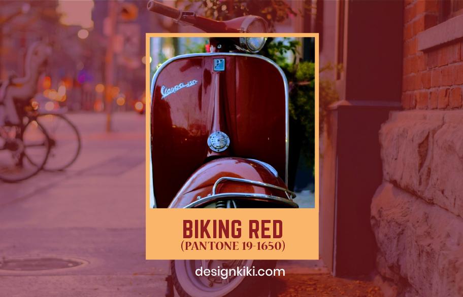 biking red- fall colors 2020