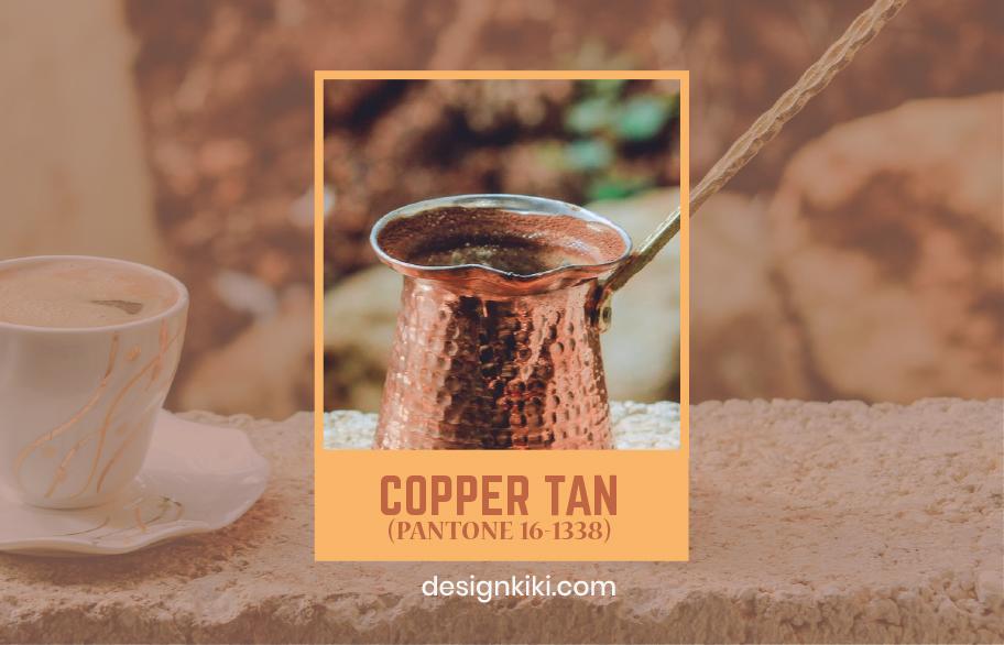 copper tan- pantone fall colors 2020