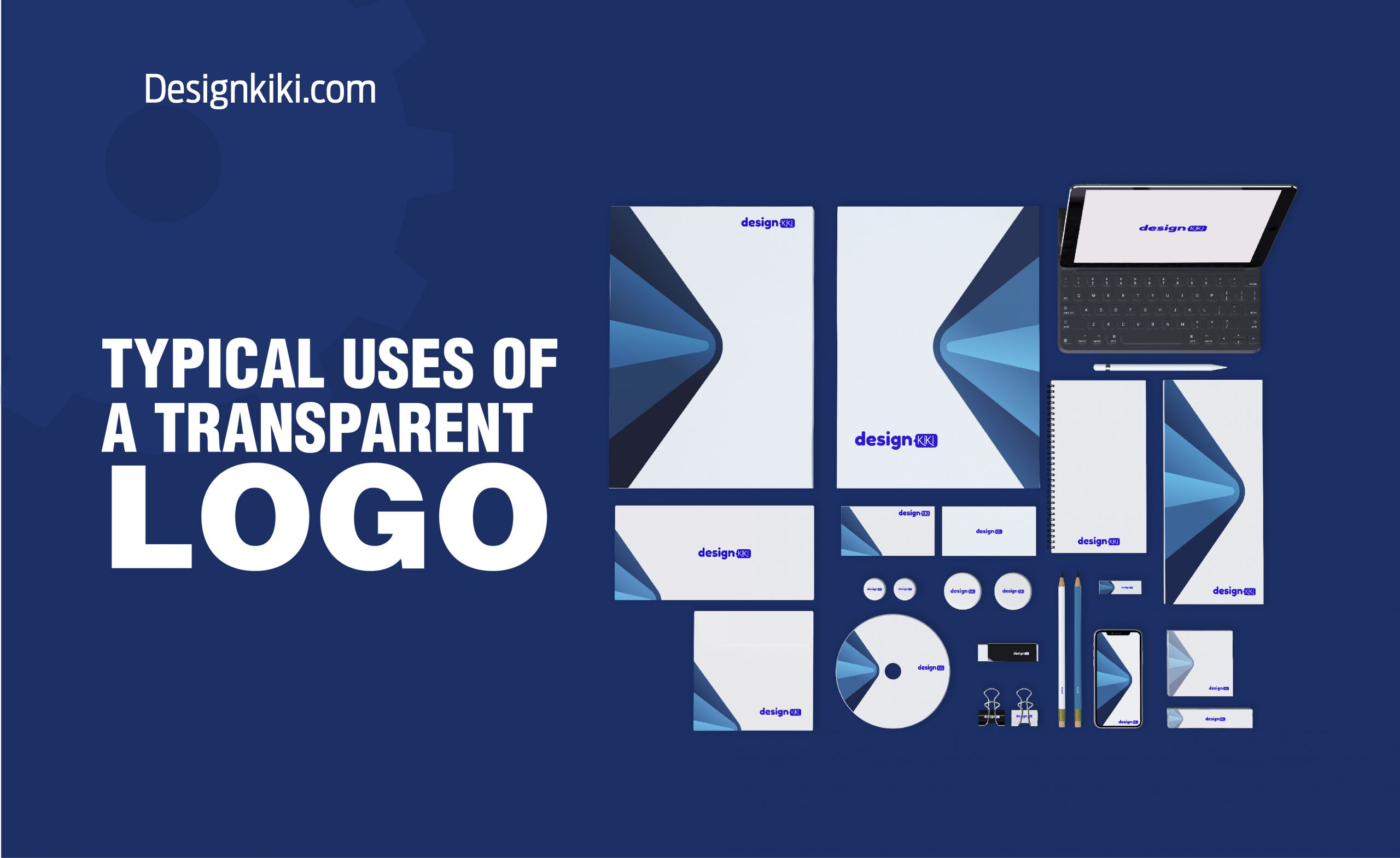 Typical uses of a transparent logo