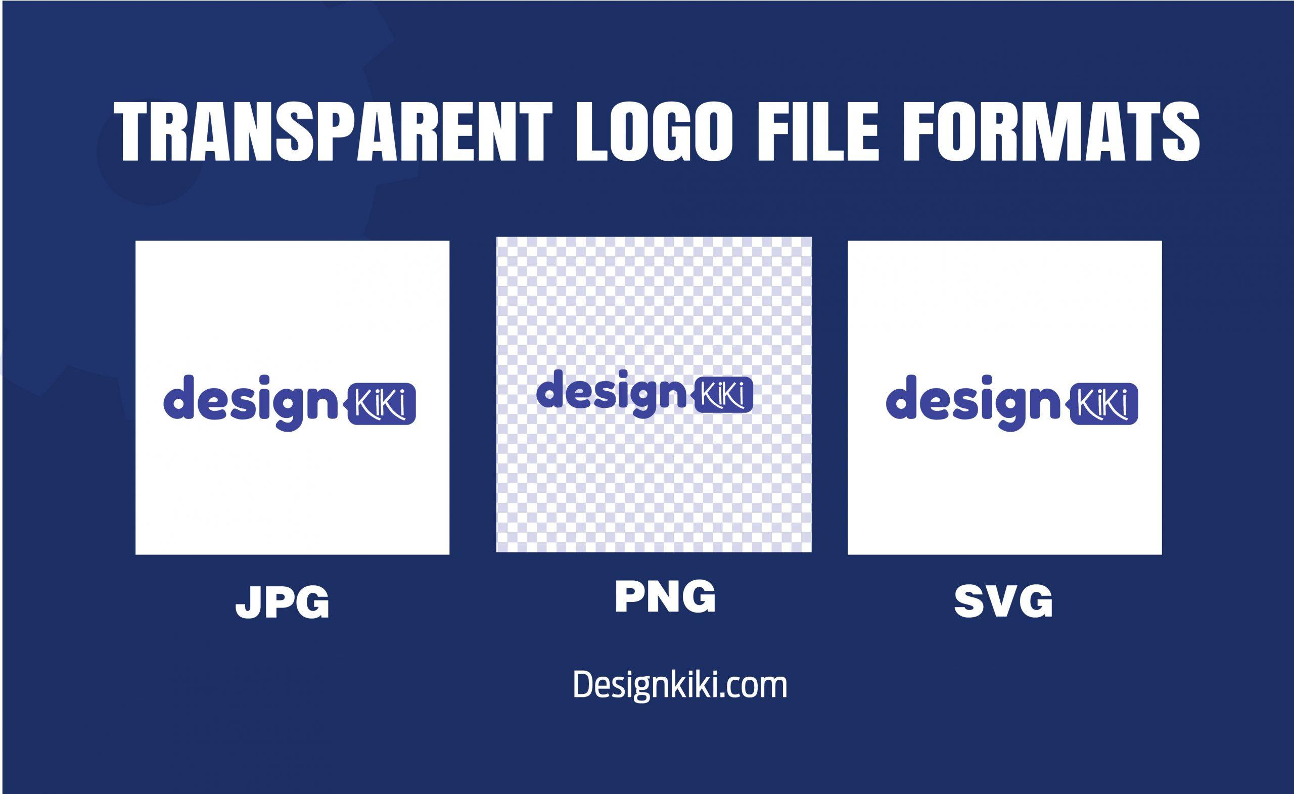Transparent logo file formats