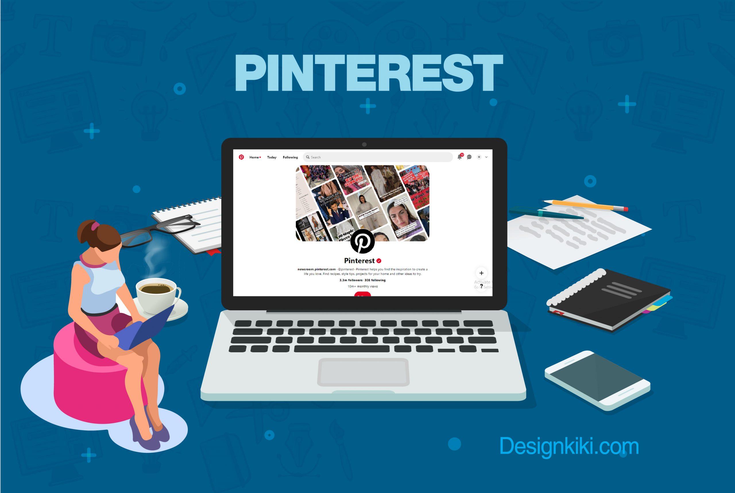 Website design inspiration on Pinterest